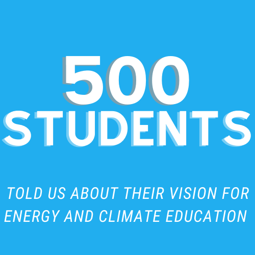 500 students told us about their vision for energy and climate education