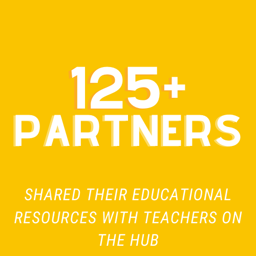 Over 125 partners shared their educational resources with teachers on our hub
